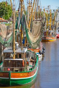 Shrimp boat in the harbor of Greetsiel, East Frisia,