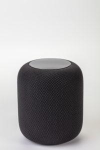 Apple HomePod, white background,