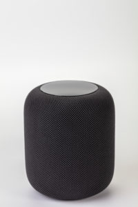 Apple HomePod, white background,