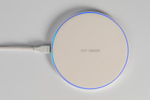 USB wireless charging pad, wireless charging pad, wireless charging, white background,