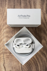 Apple AirPods Pro, original packaging opened, accessories,