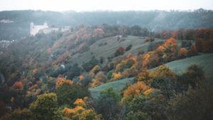 Autumn in Altmuehl valley, near Eichstaett, Bavaria, Germany