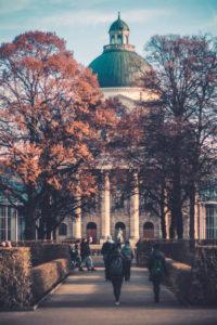 Hofgarten with Bavarian State Chancellery, Munich, Upper Bavaria, Bavaria, Germany