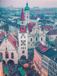 View from the city hall tower on old town, Munich, Upper Bavaria, Bavaria, Germany