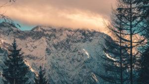 Wintry Karwendel mountains, Mittenwald, Werdenfelser Land, district Garmisch-Partenkirchen, Bavaria, Germany
