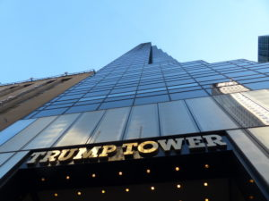 Trump Tower located at 56th Street and Fifth Avenue. It was financed by Trump Organisation and was designed by Architect Der Scutt from Poor, Swanke, Heyden & Connell architectural company. Trump Tower was the headquarters for 2016 Presidential Campaign
