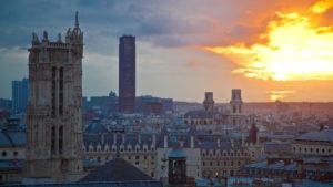 Europa, Frankreich, Paris, Blick von Oben, Sonnenuntergang