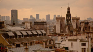Europe, France, Paris, rooftops of Paris
