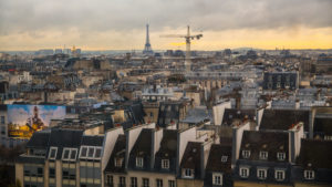 seen Europe, France, Paris, rooftops of Paris seen from the Centre Pompidou
