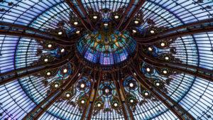 Europa, Frankreich, Paris, Galerie Lafayette, Glaskuppel