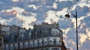 Europa, Frankreich, Paris, Häuserzeile