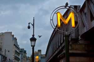 Europe, France, Paris, metro