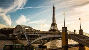 Europa, Frankreich, Paris, Passerelle Debilly,