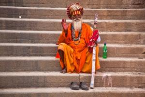 Indien, Varanasi, Ganges, Ufer, Sadou