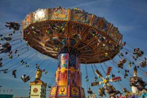 Europe, Germany, Bavaria, Munich, Oktoberfest, swing carousel