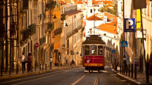 Europe, Portugal, Lisbon Europe, Portugal, Lisbon, Electrico, tram