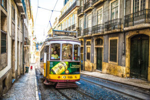 Europa, Portugal, Lissabon Europa, Portugal, Lissabon, Electrico, Trambahn