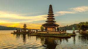 Pura Ulun Danu Bratan, Wassertempel am Lake Beratan, Bali,