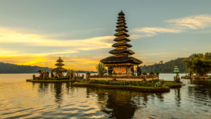 Pura Ulun Danu Bratan, water temple at Lake Beratan, Bali,