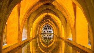 Europa, Spanien, Andalusien, Sevilla, Real Alcazar, Gotischer Palast Gewölbe, Bäder der Maria de Padilla,