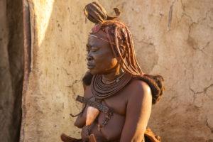 Himba woman with traditional headdress