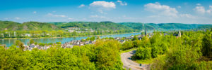 Panorama of Rhens on the Middle Rhine, Unesco World Heritage Upper Middle Rhine Valley,