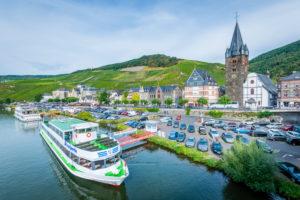 Bernkastel, Mittelmosel, excursion boats, landing stage