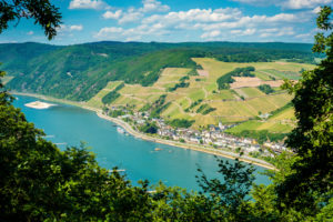 View from the Damianskopf to Assmannshausen (Middle Rhine)