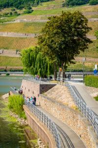 Rhein-Nahe-Eck with tourists
