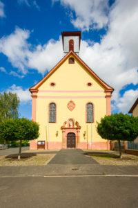 Monastery complex in Pfaffen-Schwabenheim, Rheinhessen, cultural property according to the Hague Convention,