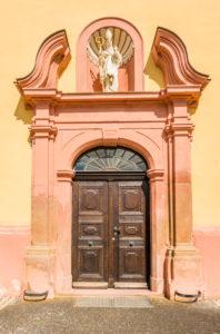 Klosteranlage in Pfaffen-Schwabenheim, Rheinhessen, Kulturgut nach Haager Konvention,