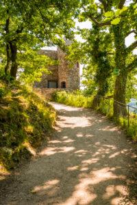 Rosselburg via Rüdesheim am Rhein, Niederwald Castle, artificial ruin, summer palace, Rossel, Unesco World Heritage Upper Middle Rhine Valley, Niederwald Landscape Park
