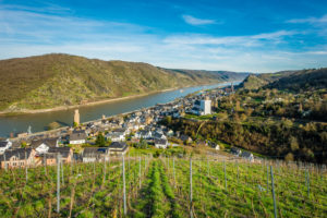 7-Virgins view of Oberwesel, a lookout point on the Middle Rhine, Unesco World Heritage Upper Mittrheintal, Rhineland-Palatinate, Germany