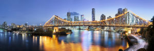 Australia, skyline, story bridge, Brisbane, Brisbane River,