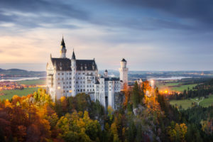 Neuschwanstein castle, near Füssen, Schwangau, Autumn, atmosphere, Dream, Evening,