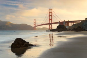 The USA, America, Golden Gate Bridge, San Francisco, California,