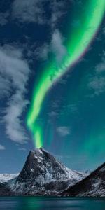 Norway, Senja, island, Rodsand, Aurora, Borealis, aurora borealis,