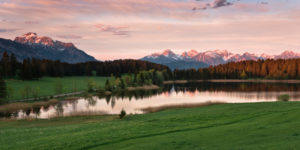 Hegratsrieder See (lake), Allgäu region, Ammergau Alps, Bavaria, Germany