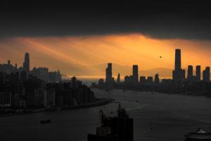 Asien, China, Hongkong, Hong Kong Island, Kowloon, Victoria Harbour