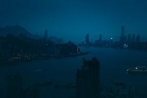 Asia, China, Hong Kong, Hong Kong Island, Kowloon, Victoria Harbor