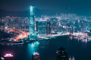 Asien, China, Hongkong, Kowloon, Tsim Sha Tsui, ICC, International Commerce Centre, Victoria Harbour