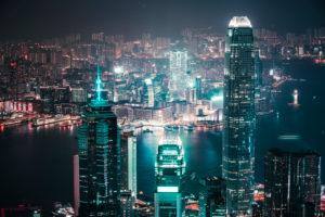 Asia, China, Hong Kong, Hong Kong Island, Kowloon, Two International Finance Center, 2IFC, The Center, Tsim Sha Tsui, Victoria Harbor