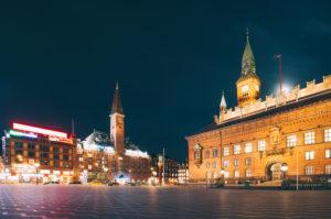 Europe, Denmark, Copenhagen, Town Hall Square, City Hall, Palace Hotel