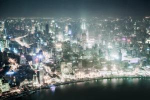 Asien, China, Shanghai, Huangpu,Shimao International Plaza, The Bund, Huangpu River