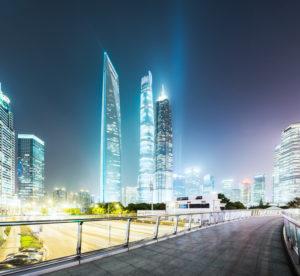 Asia, China, Shanghai, Pudong, Lujiazui, Shanghai Tower, Shanghai World Financial Center (SWFC) and Jin Mao Tower