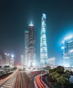 Asia, China, Shanghai, Pudong, Shanghai World Financial Center (SWFC), Shanghai Tower, Jin Mao Tower