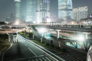 Asia, China, Shanghai, Pudong, Lujiazui, modern urban landscape