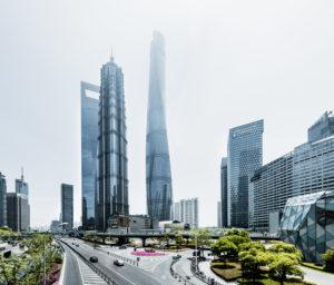 Asien, China, Shanghai, Pudong,  Lujiazui, Shanghai Tower, Jin Mao Tower, Shanghai World Financial Center, SWFC,