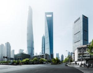 Asia, China, Shanghai, Pudong, Shanghai Tower, Shanghai World Financial Center, Jin Mao Tower,