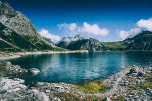Europa, Österreich, Vorarlberg, Alpen, Ostalpen, Lünersee, Rätikon,